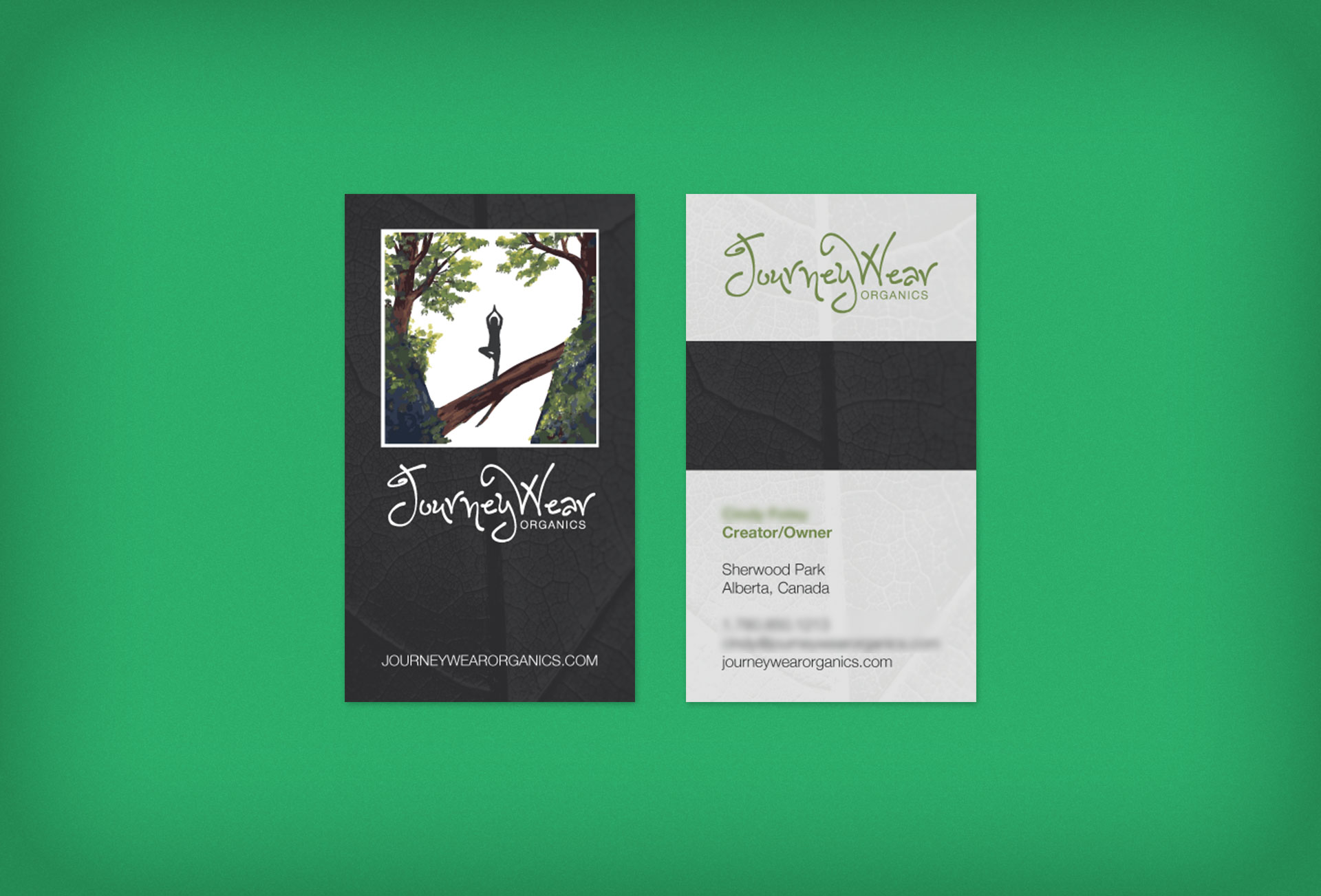 JourneyWear Organics Business Cards